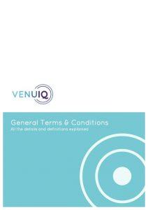 VenuIQ Terms & Conditions graphic